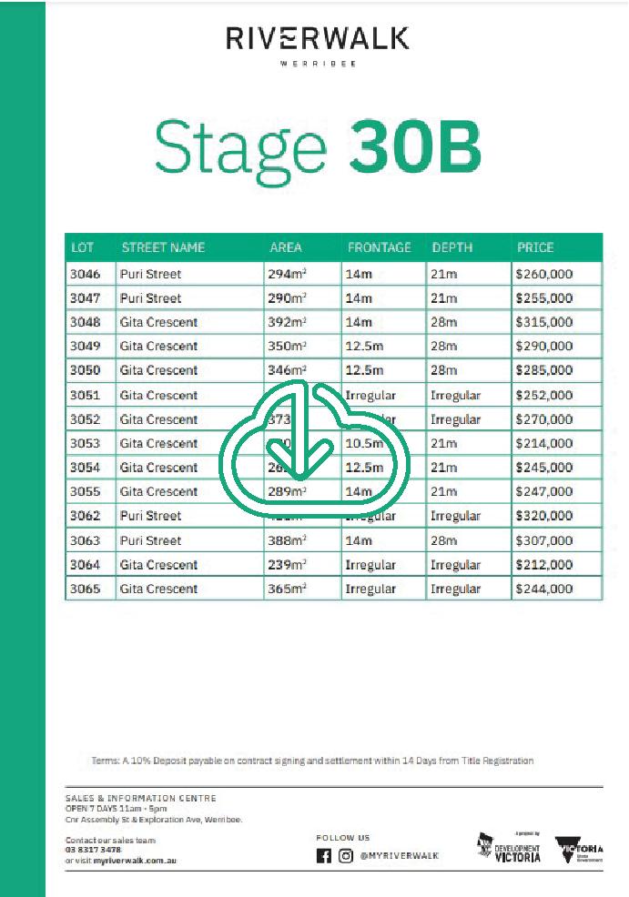 30B Price List
