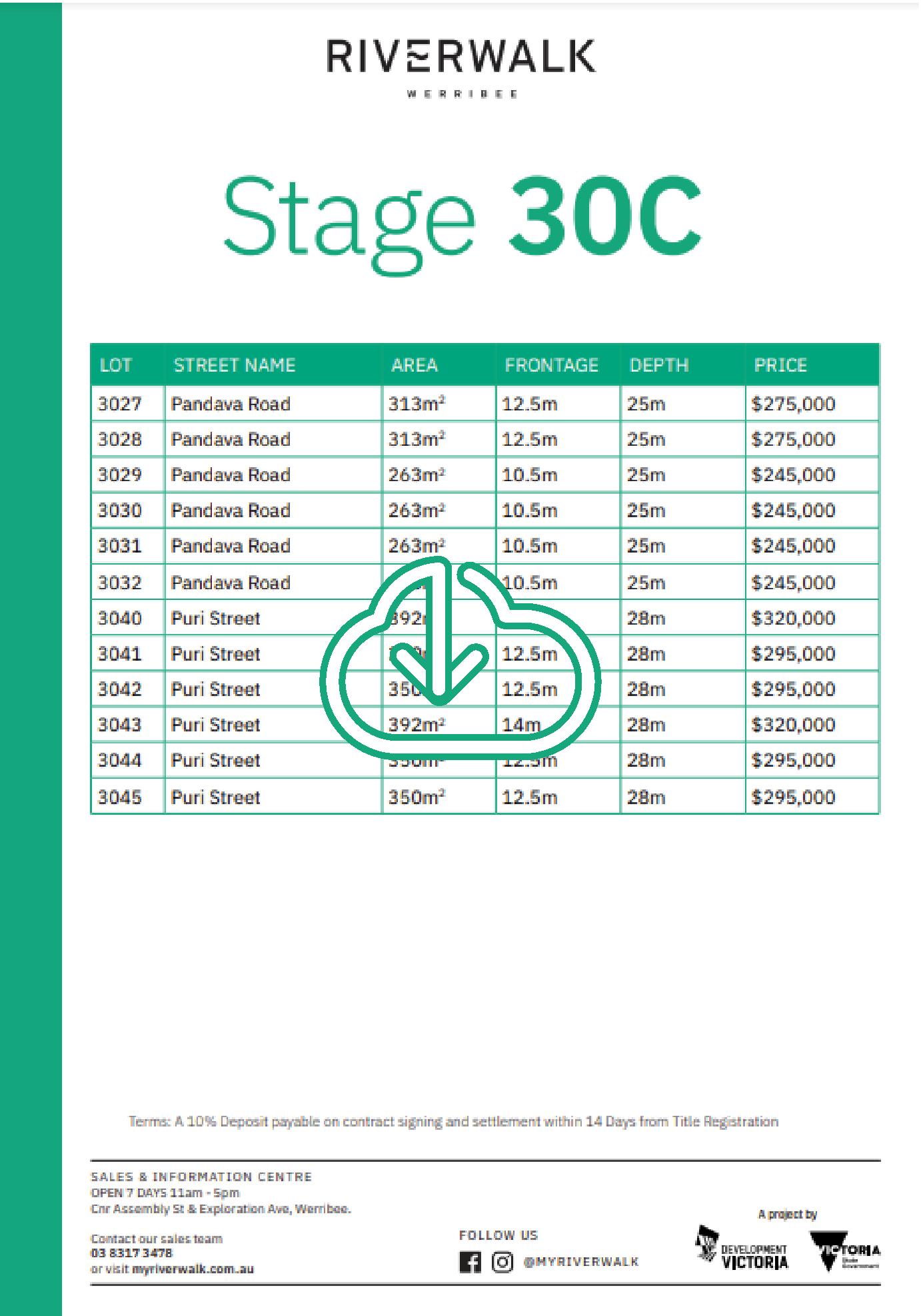 30C Price List