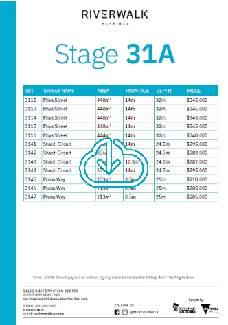 Stage 31A Price List