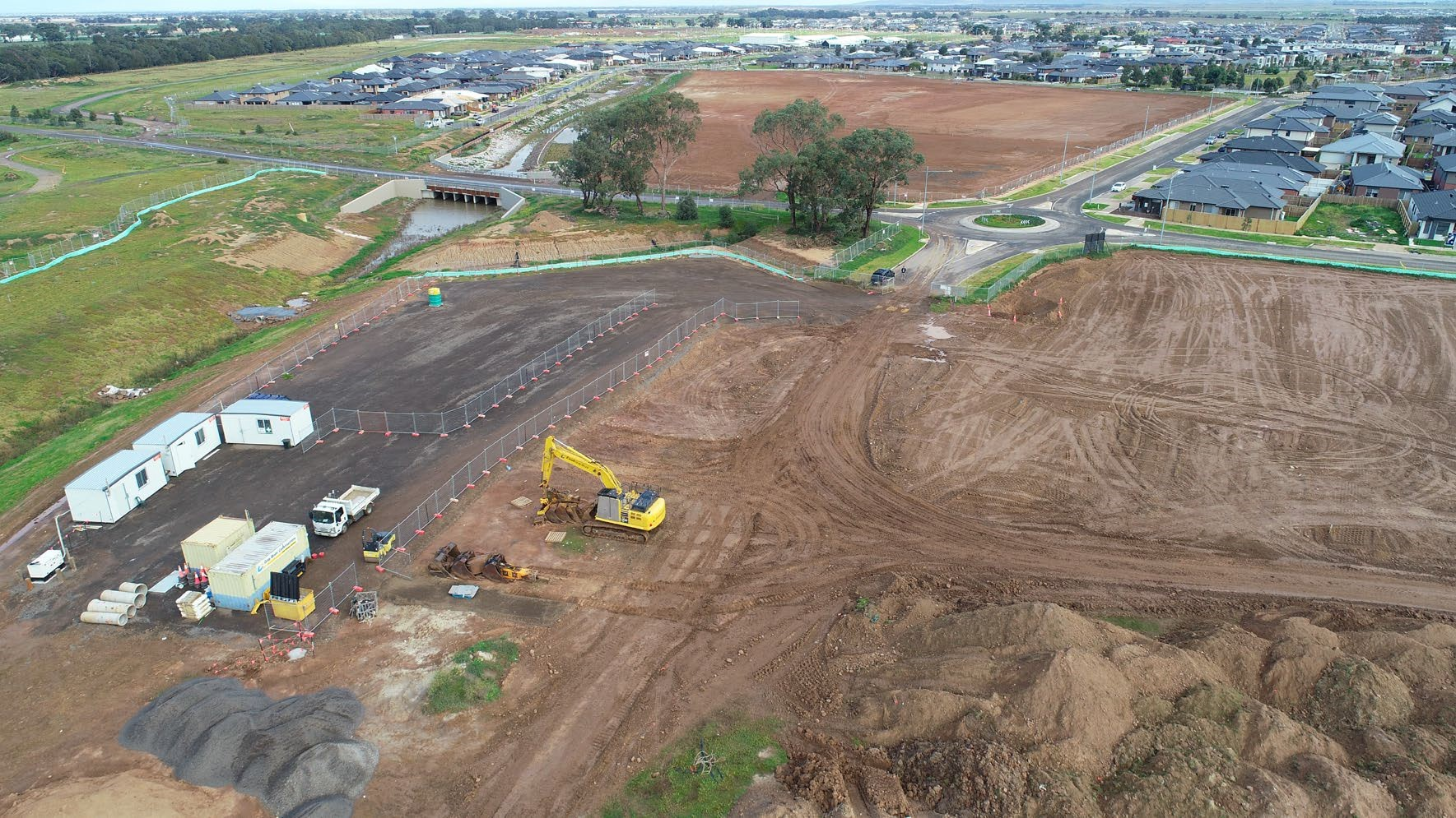 Drone photo of Stages 27-29 taken on 6 July 2020 looking west.